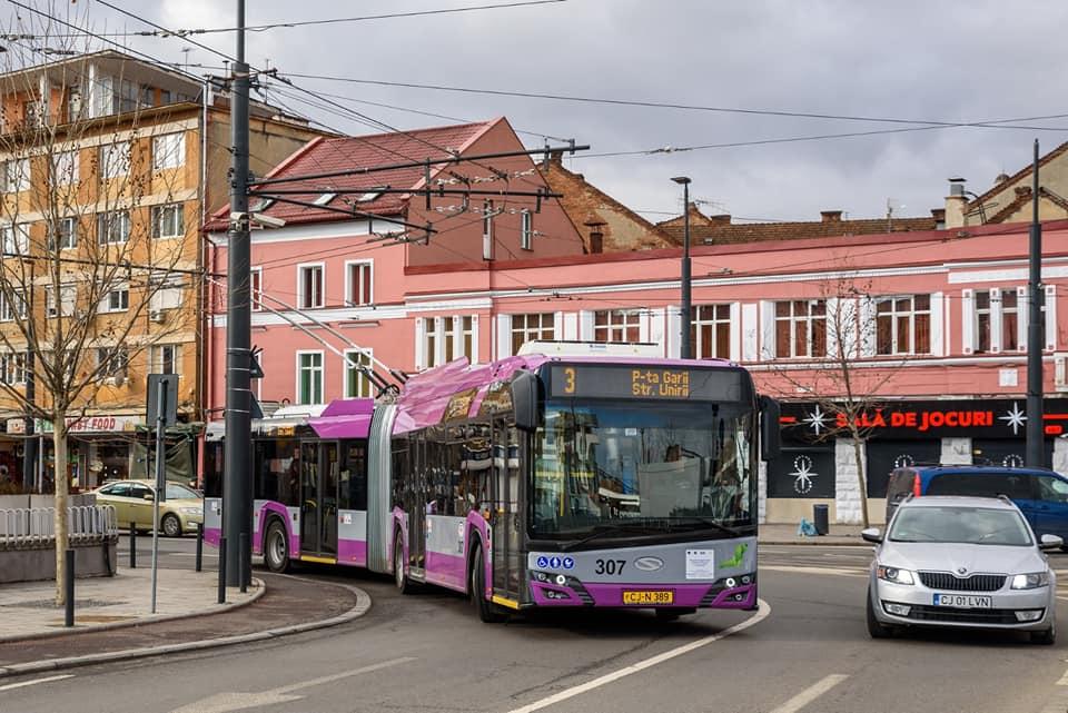 Au apărut noi linii de troleibuz în Cluj-Napoca