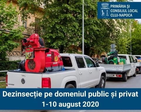 Primăria Cluj-Napoca demarează procesul de dezinfecție pe domeniul public și privat